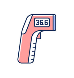 Infrared thermometer rgb color icon vector