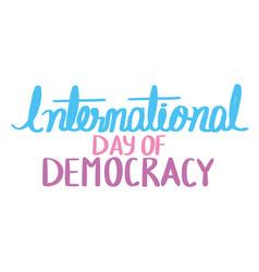 International day democracy vector