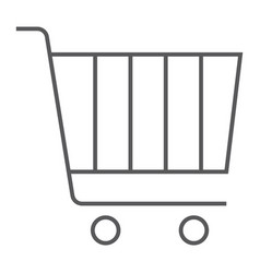internet marketing thin line icon market vector image