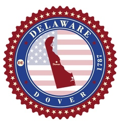 Label sticker cards of State Delaware USA vector image