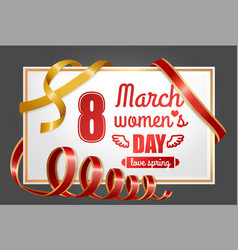 ladies international holiday 8 march poster vector image