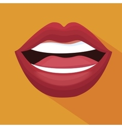 Lip female beautiful d icon vector