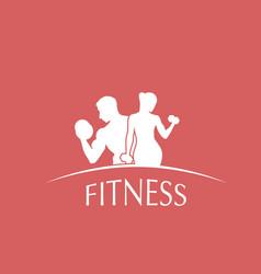 logotype fitness club vector image
