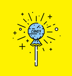 lollipop candy icon vector image