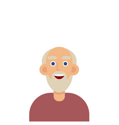 man face emotive icon old man in glasses with vector image