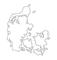 Map denmark vector