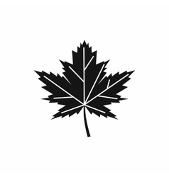 Maple leaf icon simple style vector image