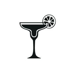 Margarita cocktail icon Simple black design vector