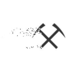 Mining hammers burst pixel icon vector