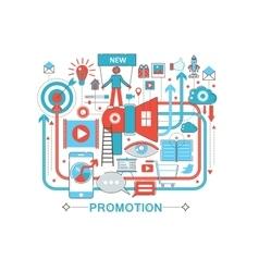 Modern Flat thin Line design Promotion promo vector
