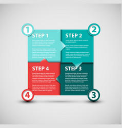 one two three four - paper progress steps vector image