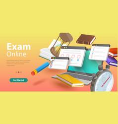 Online testing questionnaire form internet quiz vector