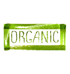 Organic product logo design vector