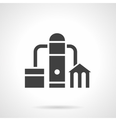 Petroleum industry glyph style icon vector