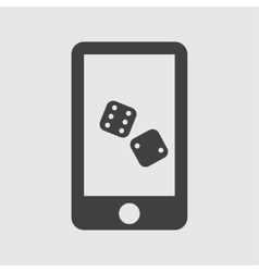 Phone game icon vector image
