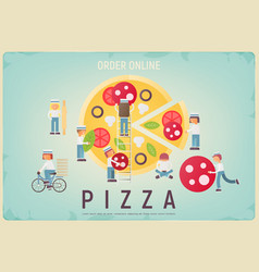 pizza order online vector image