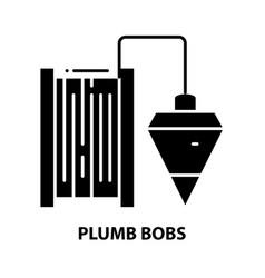 Plumb bobs symbol icon black sign vector