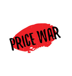 Price war rubber stamp vector