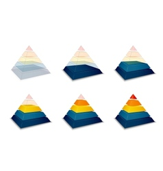 Pyramidal progress or loading bar vector