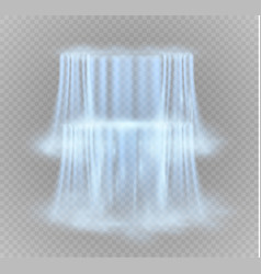 realistic transparent nature stream of waterfall vector image