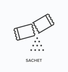 Sachet flat line icon outline vector