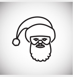 santa thin line on white background vector image