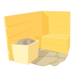 Sauna icon cartoon style vector