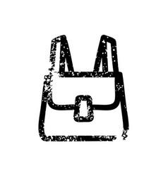 School satchel distressed icon vector