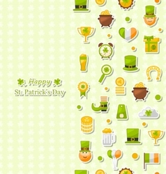 Seamless Vertical Pattern for Saint Patricks Day vector image