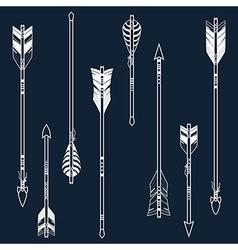set ethnic arrows vector image