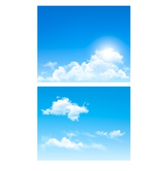 set nature backgrounds with cloud and sky vector image