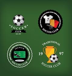 Set of soccer badge labelsemblems vector image