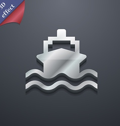 Ship icon symbol 3D style Trendy modern design vector