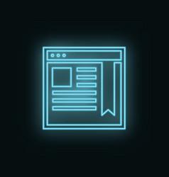 Site network neon icon web development icon vector