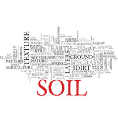 Soil word cloud concept vector