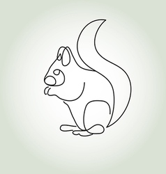 Squirrel in minimal line style vector
