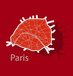 Sticker urban city map of paris france vector
