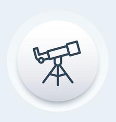 Telescope line icon vector