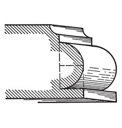 Torus a roman moulding vintage engraving vector