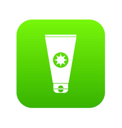 tube with sunbathing cream icon digital green vector image