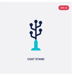 two color coat stand icon from furniture concept vector image