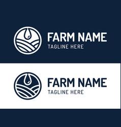 water drop logo design is combined vector image