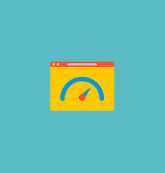 Website performance icon flat element vector