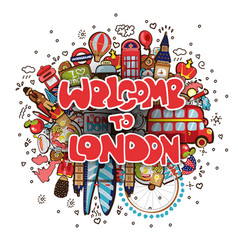 Welcome to london with england vector