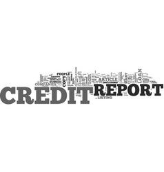 What is on your credit report text word cloud vector