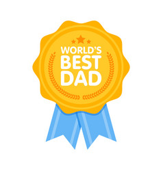 world best dad badge award vector image