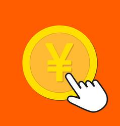yen currency icon exchange buying currency vector image