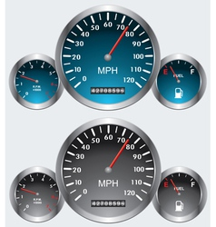 car dashboards vector image
