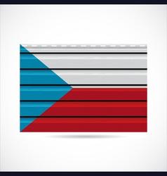 Czech Republic siding produce company icon vector image vector image