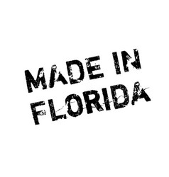made in florida rubber stamp vector image vector image